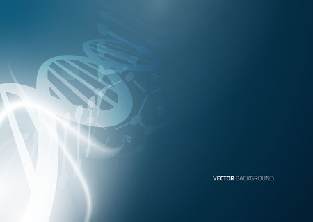 medical symbol: DNA molecule structure background. Abstract blur illustration