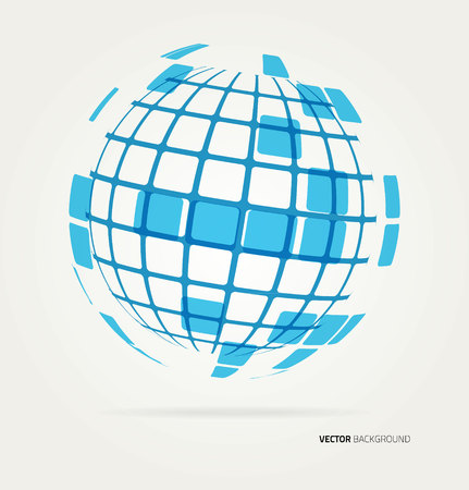 internet logo: Abstract image of a globe lines. Vector
