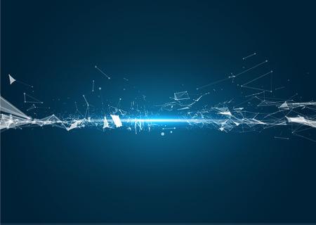 technologia: Technologia abstrakcyjne geometryczne element wektora projektowania. Szablon projektu