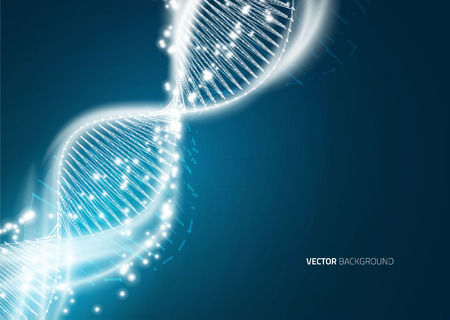 DNA molecule structure background. Abstract blur illustration