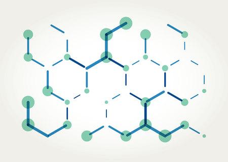 techincal: Abstract color hexagons template. Vector. Template design Illustration