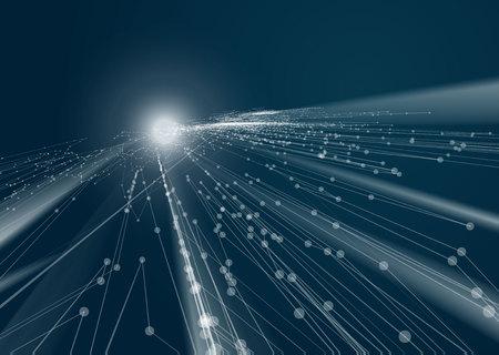 cable red: Elemento de diseño de la tecnología abstracta geométrica. Diseño de la plantilla