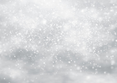 Falling snow on the blue background. illustration design Standard-Bild
