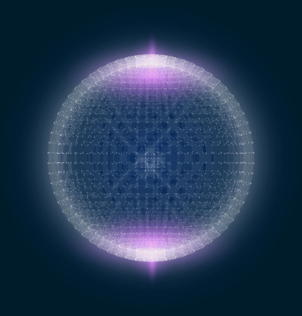 Abstract geometric technology vector design element. Template design