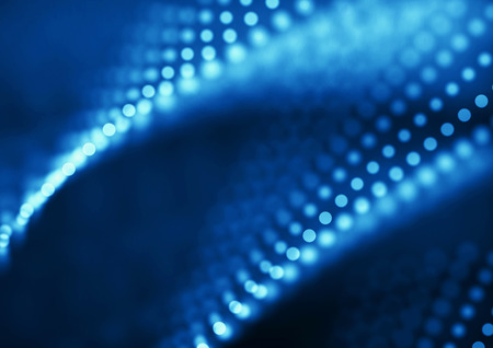 Abstract blue depth of field dots background