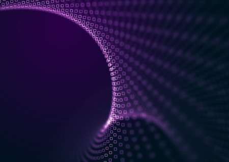 Abstract purple depth of field dots background