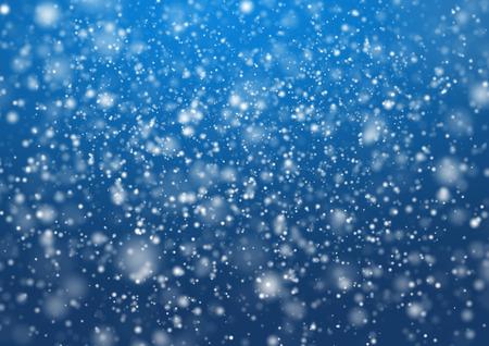 neige qui tombe: Des chutes de neige sur le fond bleu. illustration design