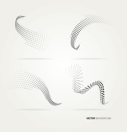 elements design: Vector halftone dots abstract background. Design template Illustration