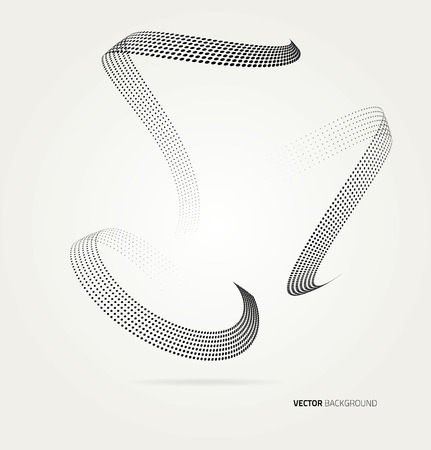 swirl background: Vector halftone dots abstract background. Design template Illustration