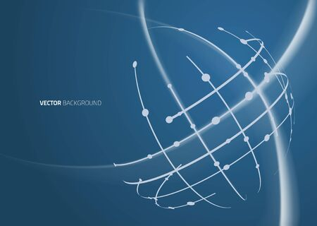 global network: Abstract image of a globe lines. Vector