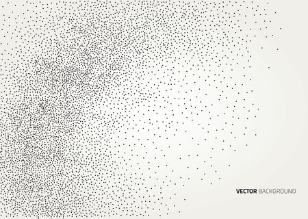 wall decoration: Vector halftone dots abstract background. Design template Illustration