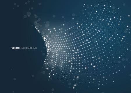 Tecnologia astratto geometrica elemento di design vettoriale. Template design