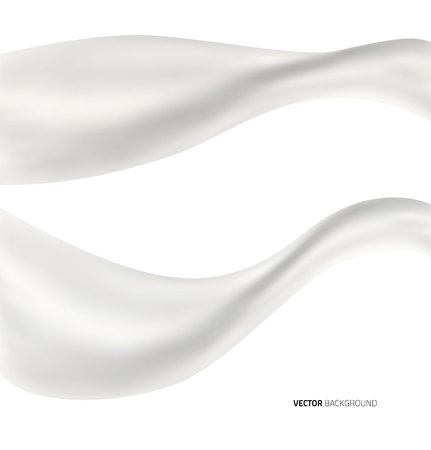 白の抽象的な液体ミルク スプラッシュの背景。ベクトル図  イラスト・ベクター素材