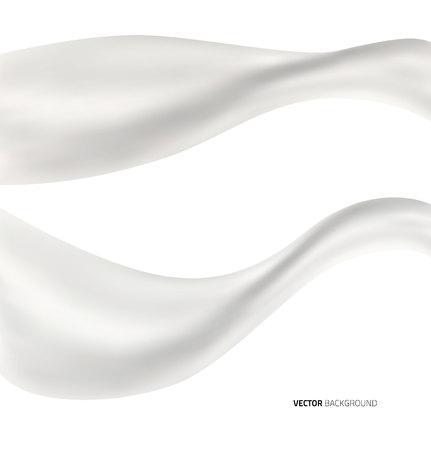yogur: Fondo blanco bienvenida de leche líquida abstracta. ilustración vectorial