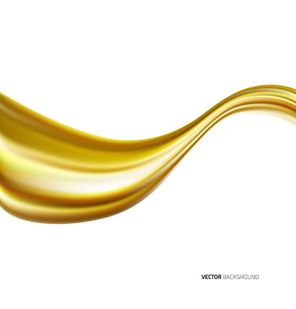 Engine oil wave isolated on white background