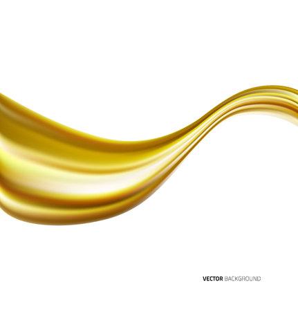 Motorolie golf op een witte achtergrond Vector Illustratie