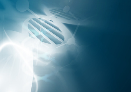 code: DNA molecule structure background. Abstract blur illustration