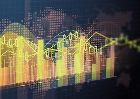 economia: tecnología geométrica de elementos gráficos abstractos. diseño de la plantilla Foto de archivo