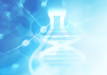 ADN estructura de la molécula de fondo. Ilustración abstracta de desenfoque