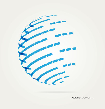 Abstract image of a globe lines. Illustration