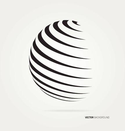 Abstract image of a globe lines. Ilustração