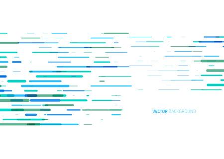 líneas de color horizontales abstractas sobre un fondo blanco