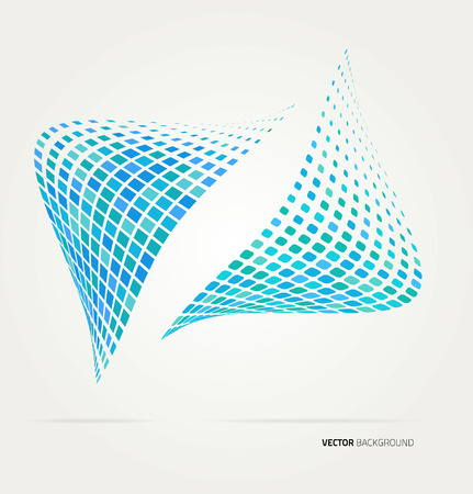 decorative frames: halftone dots abstract background. Design template Illustration