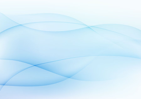 Abstract light blue wavy background.