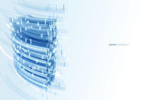 blue glass: Modern blue glass wall of office building