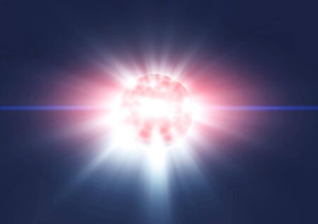 Planet earth explode in space. Template design Stock Photo