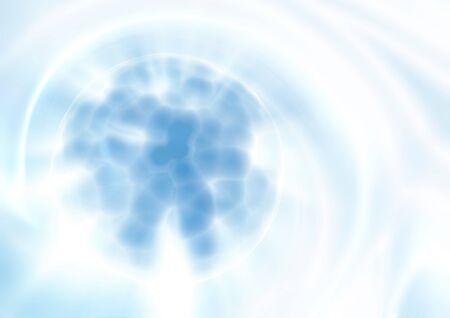 nanotechnology: Abstract blue techno background of nanotechnology. Template design Stock Photo