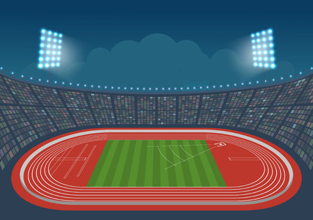 competitions: Stadium for competitions. Template design