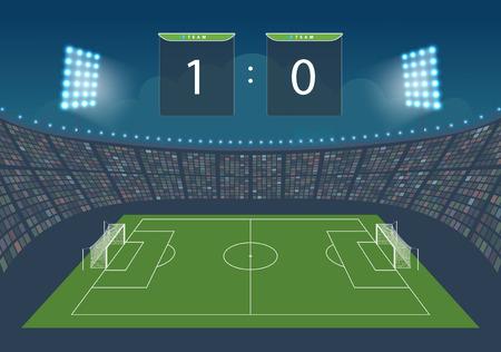 Stadion voor spel in voetbal. Vector illustratie