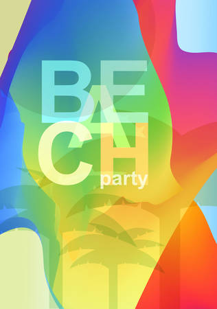party design: Abstract creative colorful party flyer. Template design
