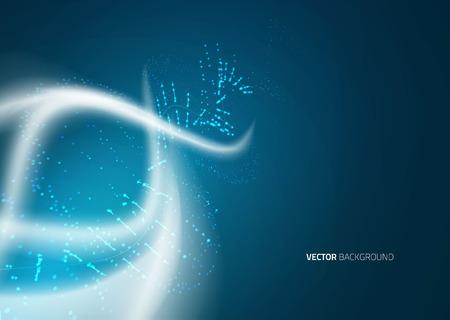 DNA-molecuul structuur achtergrond. Blur illustratie Stock Illustratie