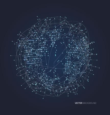 Resumen planeta compuesto de puntos