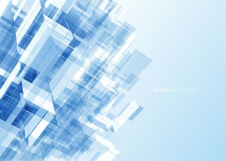 glass office: Modern blue glass wall of office building