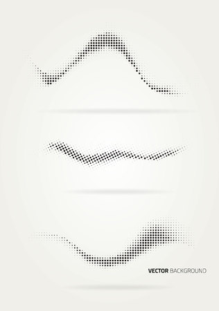 Vector halftone dots abstract background. Design template Foto de archivo - 113837748