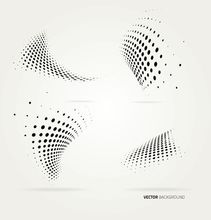 Kropki rastra wektor streszczenie tło. Szablon projektu Ilustracje wektorowe