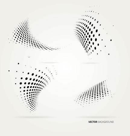 Vector halftoonpunten abstracte achtergrond. Ontwerpsjabloon Vector Illustratie