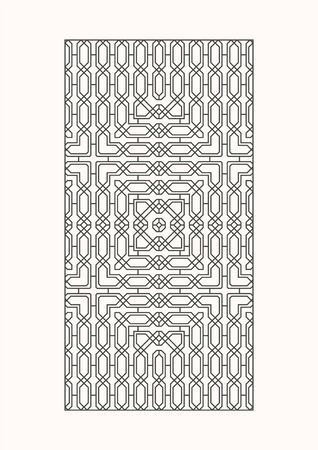 Seamless pattern for decorative panels.