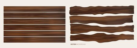 Wood plank brown texture background. Vector. Template design Vettoriali