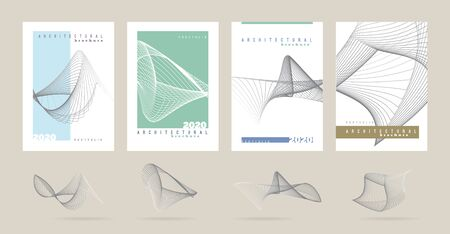 Abstract brochures from the lines