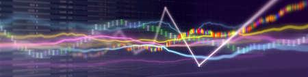financial stock market graph on technology Banco de Imagens
