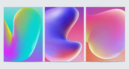 Modern abstract covers set. Cool gradient shapes composition. Ilustração
