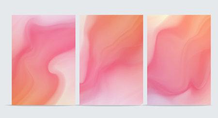 Wave Liquid shape in multi color background. Vector illustration