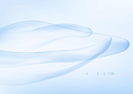 Wave Liquid shape in multi color background. Vector illustration EPS10