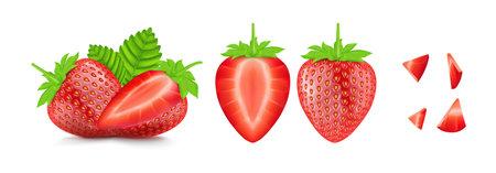 Beautiful strawberry on a white background
