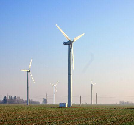 savers: wind farmindustrial wind power plant in the field in field