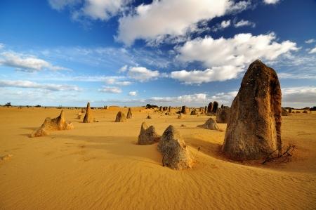Pinnacles desert on a sunny day, Western Australia